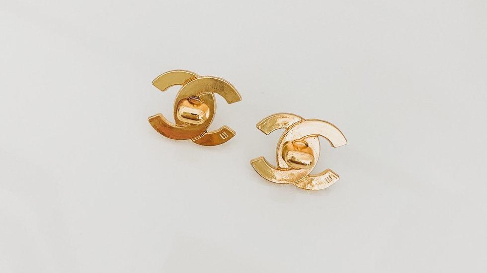 CC Twist Lock Earrings