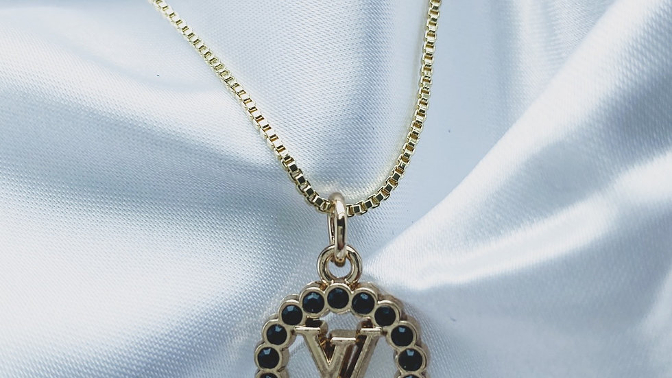LV Black Necklace