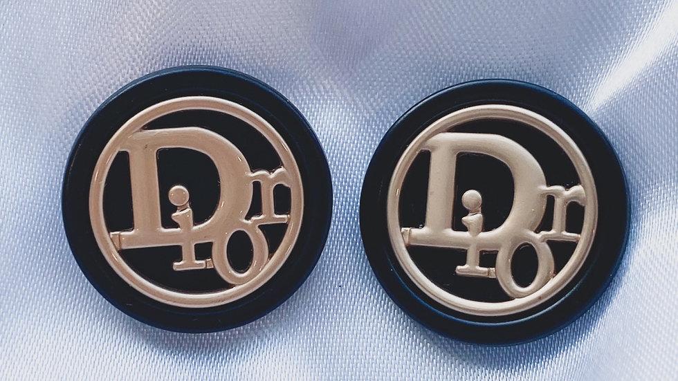 Dior Black Earrings