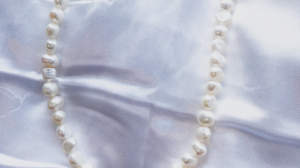 Goddess Pearl Heart Necklace