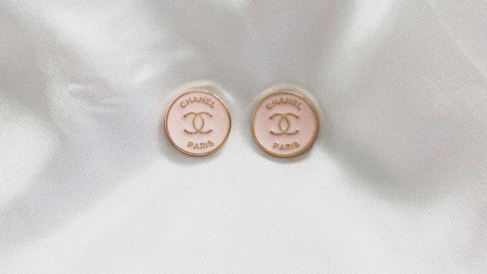 Mini Rosé CC Earrings