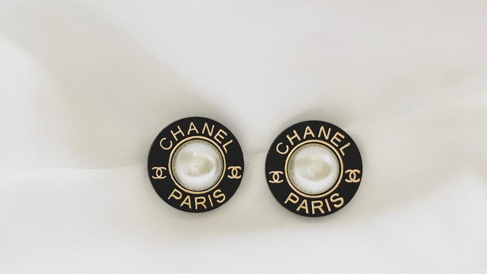 Noir CC Earrings