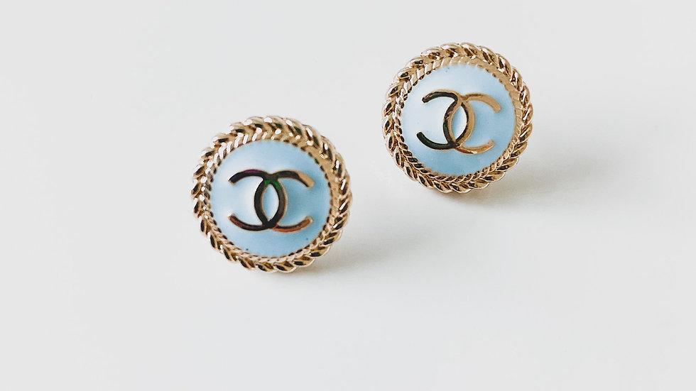 Baby Blue CC Earrings