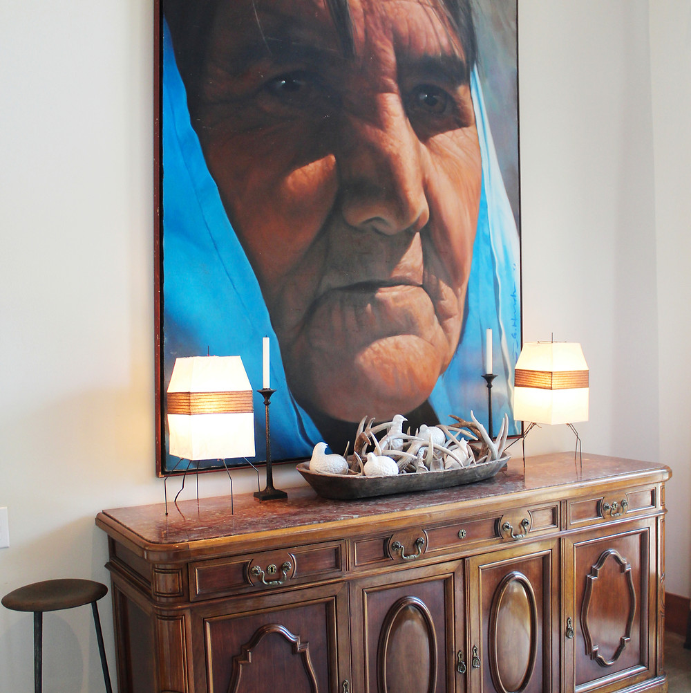 The credenza below is from a Parisian hotel, found at Whit Hanks.