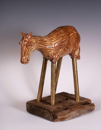 Brass Horse 13x13x7