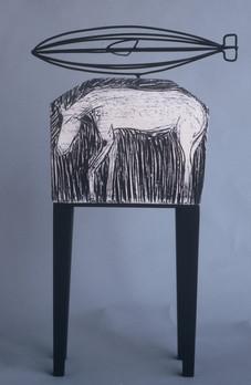 Dirigible clay, steel & wood 1997