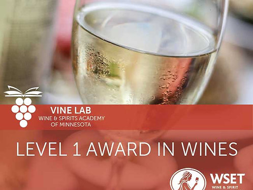 WSET Level one Award in Wines *One day social distanced course with exam