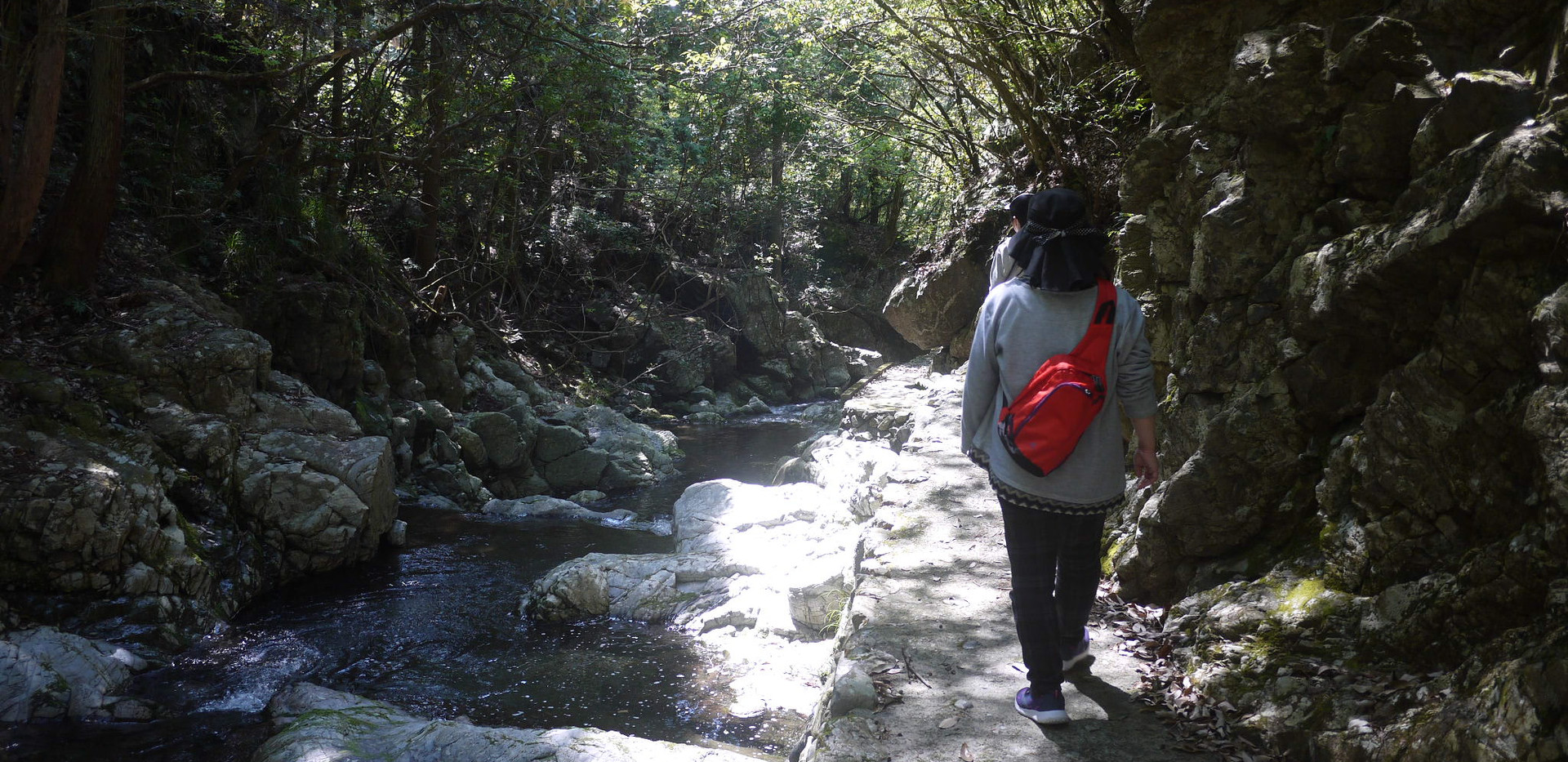 梅津の滝下流  撮影 清流 松本