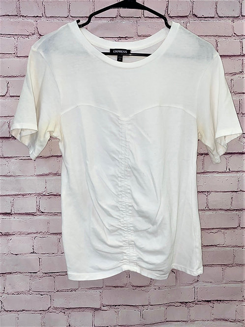 Ribbed cropped express tee