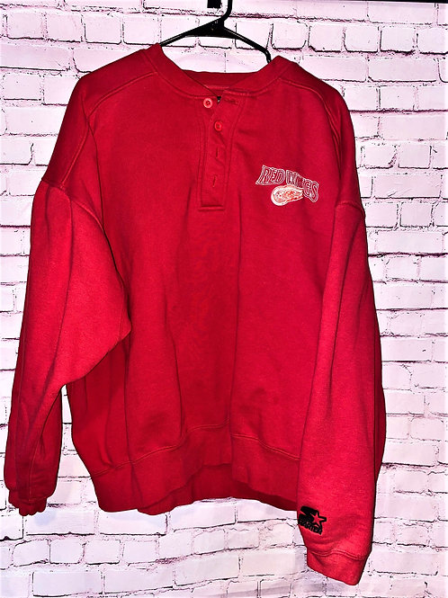Red Wings button down sweatshirt