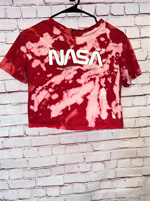 NASA Bleached Cropped Tee