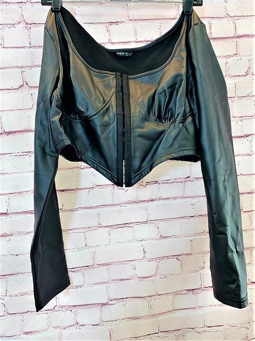 Leather Corsette Top