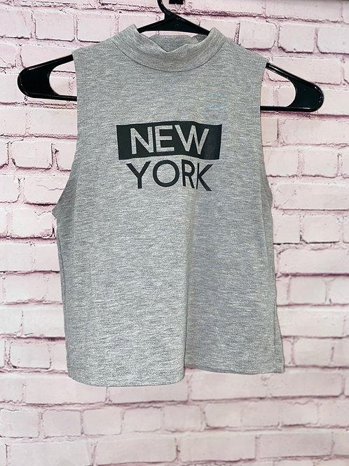 New York mock neck tank