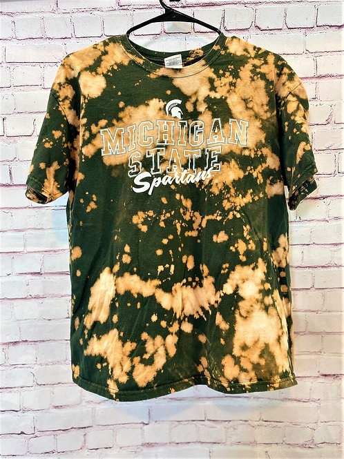 Michigan State bleached tee