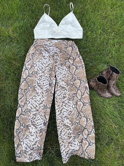 Silk snake skin pants