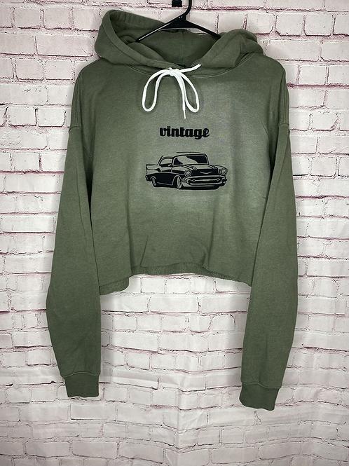 Vintage cropped hoodie