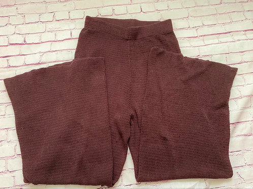 Knitted flare pants