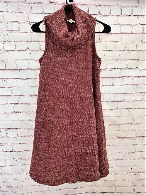 Turtle neck sleeveless dress