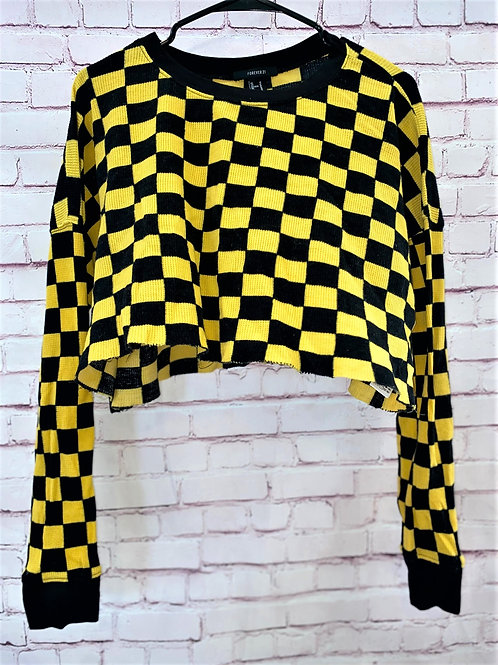 Checkered cropped tee