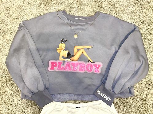 Playboy vintage cropped sweatshirt