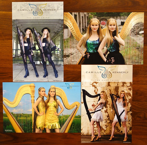 Harp Twins - 4 Poster Collection (AUTOGRAPHED)
