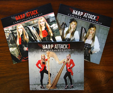 Harp Attack 1, 2 & 3 AUTOGRAPHED CD Bundle