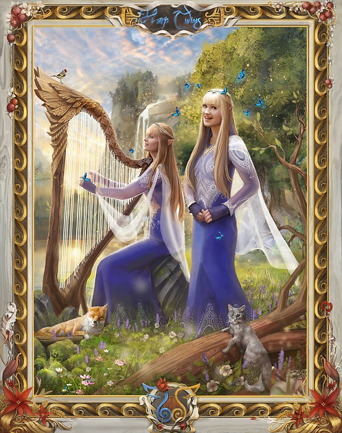 LIGHT ELVES Artwork Print
