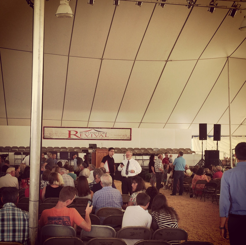 INSIDE THE REVIVAL TENT
