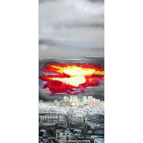 esplosione sulla città