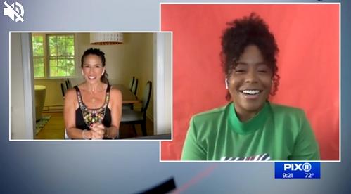 PIX11 news with Paulana Lamonier interview on air