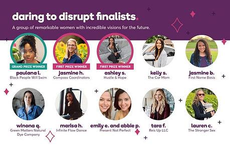 Daring to disrupt finalist graphic