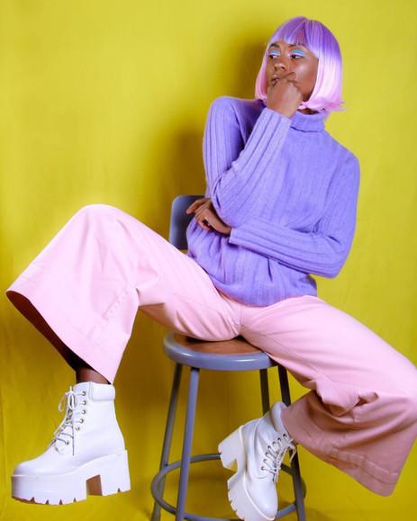 """""""Pop of Gum"""" Editorial Campaign  Photographer: Rae Faith  MUA: Raisa Flowers  Stylist: Sherelle Williams  Hair: Hawa Fallay   Website: raefaithphotography.com/  Instagram: @raefaithphotography"""