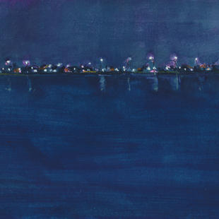 Lights Across the River in the Middle of the Night