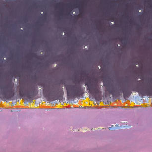 Stars,Lights and the River