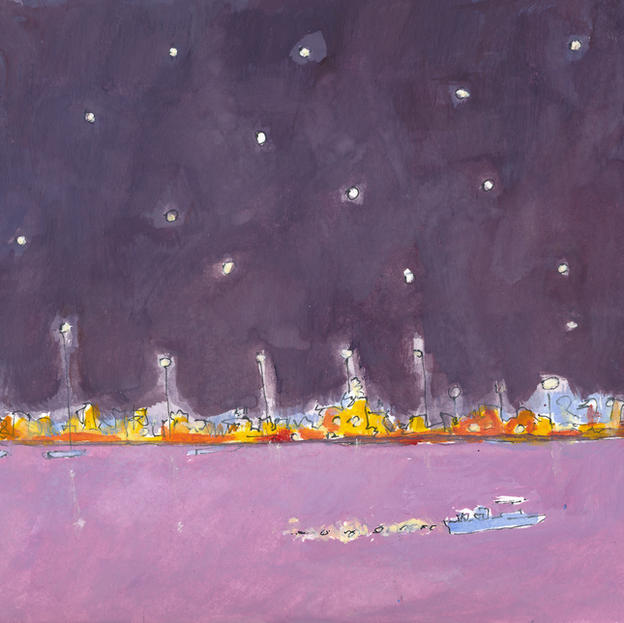 Stars,L ights and the River
