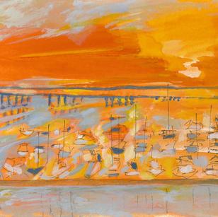 Sunrise Over the Marina, 7:10 a.m.