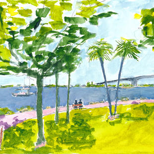 Sarasota Bayfront Park Happy