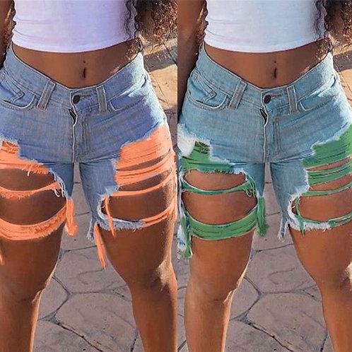 Hot Sale Women's Summer Ripped Denim Shorts