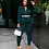 Thumbnail: Full Sleeve Ruffles Blazers Pencil Pants Suit Two Piece Set/ Office Lady