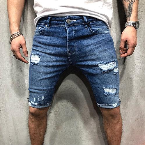 Men Ripped Short Jeans