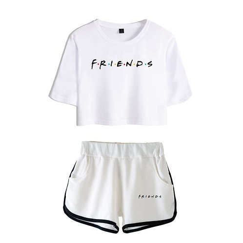 Friends Ill Be There for You Shorts and T-Shirt Sexy Two Piece Set