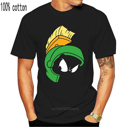 Looney Tunes Men'S Marvin the Martian Face T-Shirt Printing Tee Shirt