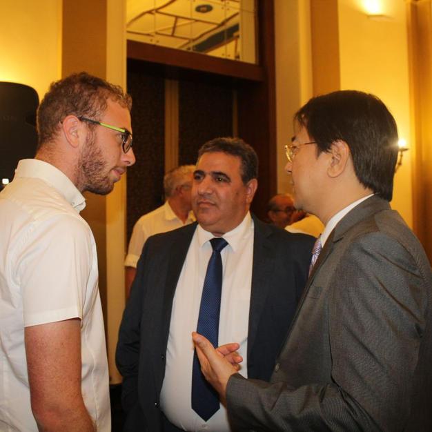 פגישה עם נשיא לשכת המסחר ירושלים ושגריר הפיליפינים בישראל