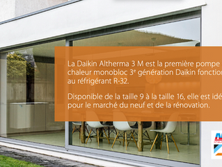 Monobloc Daikin Altherna 3 M : bien pour votre habitat, bien pour la planète !