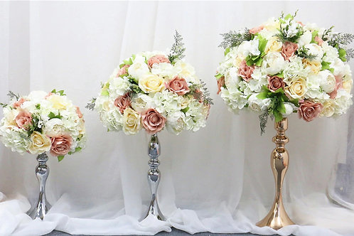 Mixed Pale pink and Ivory/ Artificial Rose hydrangea flower ball