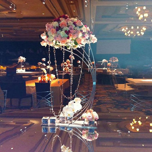 10Pcs New style 32'' Tall Gold Metal Flower Stand