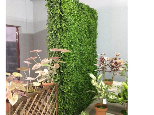 Eucalyptus plastic Green Hedge Artificial Flower Wall Panel