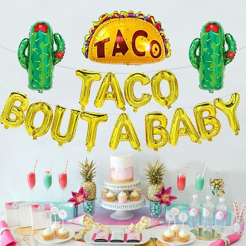 Taco lovers party decor / baby shower decorations