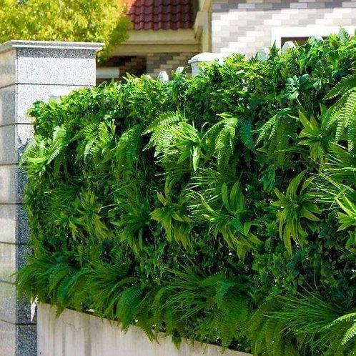 1M Green Hedge plants/ grass Matt Flower Wall Panel, Artificial Green