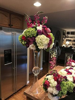 4pcs 90cm Flower Clear Glass Flower Stand / Wedding centerpieces